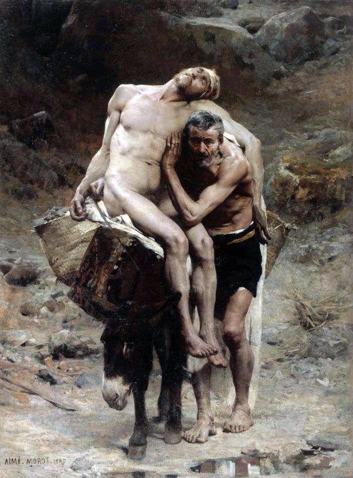 Aime Morot, The Good Samaritan, 1880